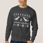 Ugly T-Rex Dinosaur Christmas Sweater Pullover Sweatshirt