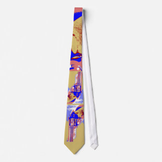 Ugly Tie with a Gun on it