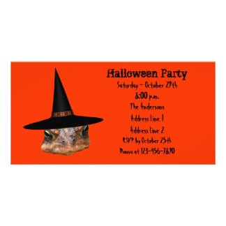 Ugly Toad Face Halloween Party Invite