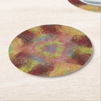 ugly unpleasant pattern round paper coaster