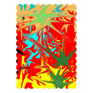 Ugly unusual colorful blot 5x7 paper invitation card