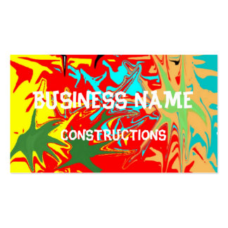 Ugly unusual colorful blot business card