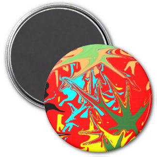 Ugly unusual colorful blot magnet
