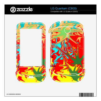 Ugly unusual colorful blot skin for the LG quantum