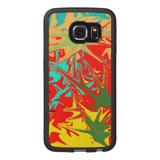 Ugly unusual colorful blot wood phone case