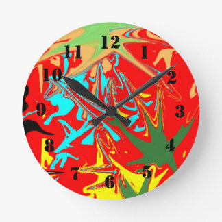 Ugly unusual pattern round clock