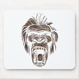 ugly vintage monkey mouse pad