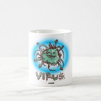 ugly virus funny cartoon coffee mug