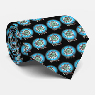 ugly virus funny cartoon neck tie
