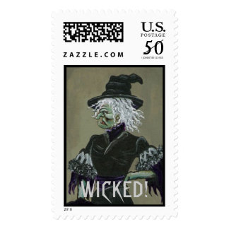 Ugly Wicked Witch Stamp