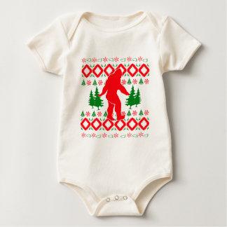 Ugly Xmas Bigfoot Baby Bodysuit