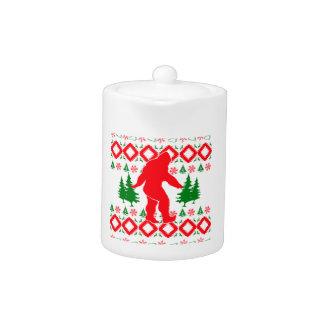 Ugly Xmas Bigfoot Teapot