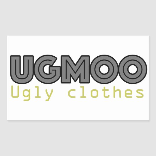 UGMOO Ugly Clothes Sticker
