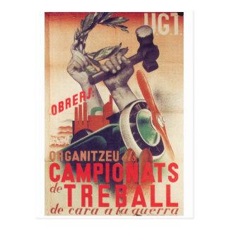 UGT Workers; organize_Propaganda Poster Postcard