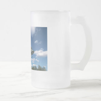 UH1 50 HELICOPTER FROSTED GLASS BEER MUG