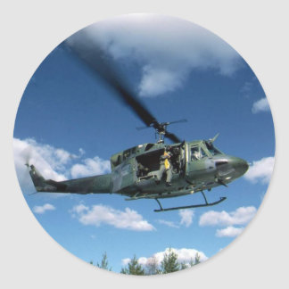 UH1 50 HELICOPTER CLASSIC ROUND STICKER