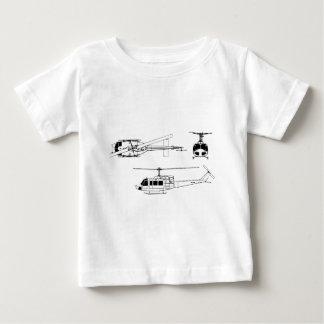 UH1 Huey Blueprint (Iriquois) Baby T-Shirt