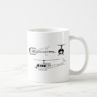 UH1 Huey Blueprint (Iriquois) Coffee Mug