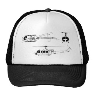 UH1 Huey Blueprint (Iriquois) Mesh Hats