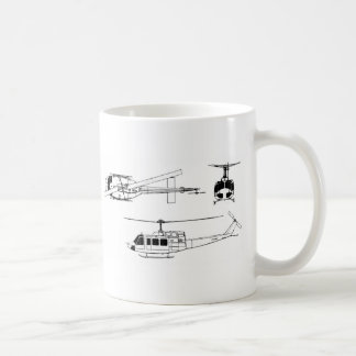 UH1 Huey Blueprint (Iriquois) Classic White Coffee Mug
