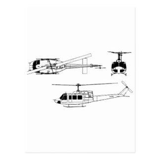 UH1 Huey Blueprint (Iriquois) Postcard
