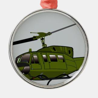 UH-1 Huey - Color Metal Ornament