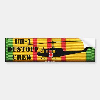 "UH-1 ""Huey"" DUSTOFF CREW VSM Bumper Sticker"