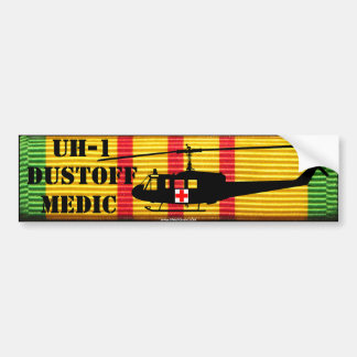 "UH-1 ""Huey"" DUSTOFF MEDIC VSM Bumper Sticker"
