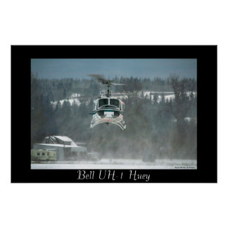 UH-1 Huey Hovering Poster