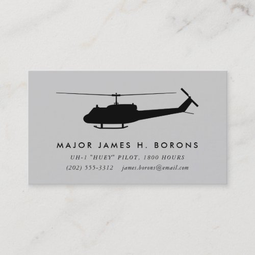 UH_1 Huey Pilot Business Card with pattern