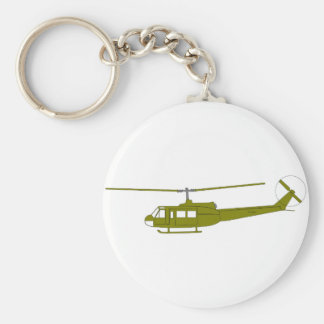 UH-1H 'Huey' Utility Helicopter Basic Round Button Keychain