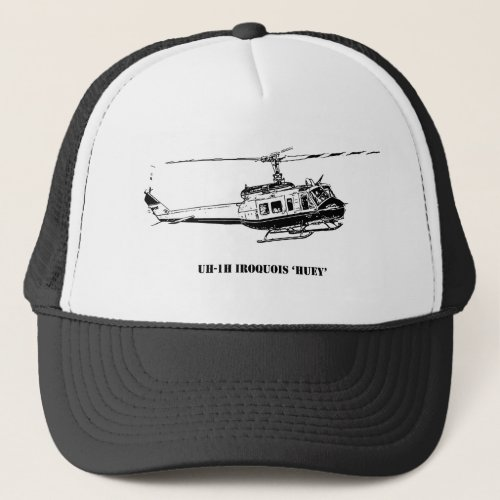 UH_1H Iroquois Helicopter Trucker Hat