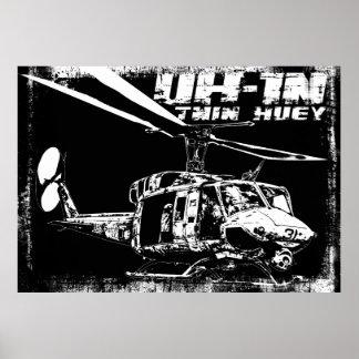 UH-1N Huey gemelo Posters