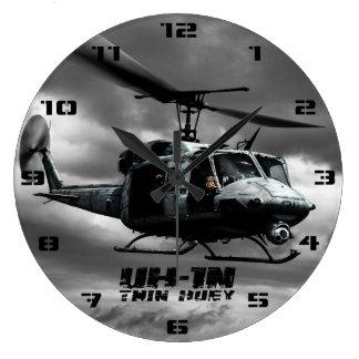 UH-1N Huey gemelo Reloj Redondo Grande