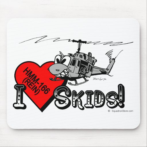 UH-1N I Love Skids mouse pad