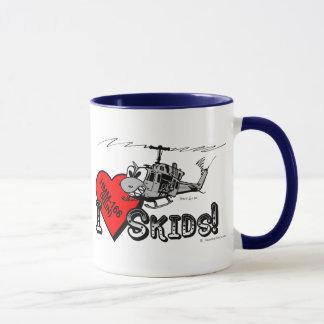 UH-1N I Love Skids ringer mug