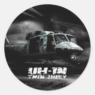 UH-1N Twin Huey Classic Round Sticker