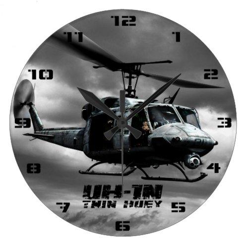 UH_1N Twin Huey Large Clock