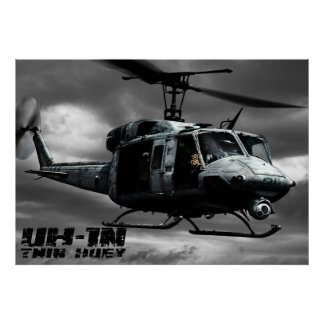 UH-1N Twin Huey Poster