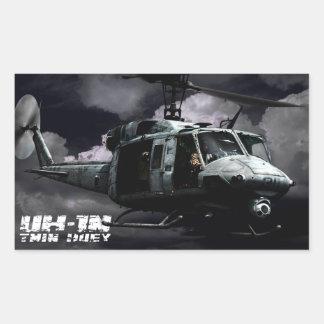 UH-1N Twin Huey Rectangular Sticker