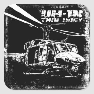 UH-1N Twin Huey Square Sticker