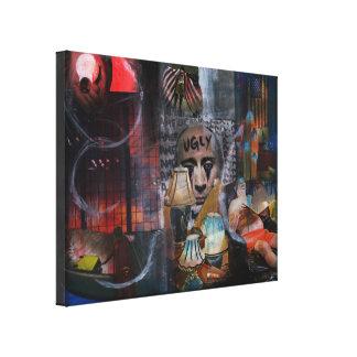 Uh-merica Original Art Mix Media Wrapped Canvas