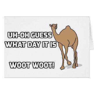 Uh-Oh conjetura qué día es - día de chepa Tarjeta De Felicitación