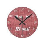 ¡Uh oh… es tiempo del IMPUESTO!  Reloj - texto bla
