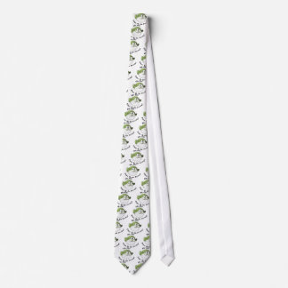 Uh-Oh, hora de ir a zambullirse Corbata Personalizada