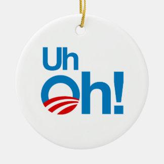 Uh oh christmas ornament
