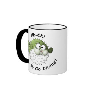 Uh-Oh, Time To Go Diving Ringer Mug