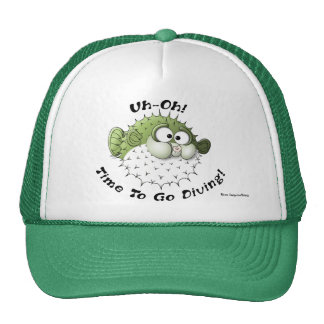 Uh-Oh, Time To Go Diving Trucker Hats