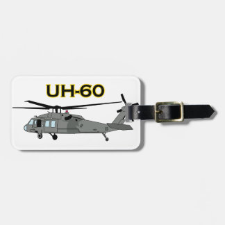 Uh Sixty Black Hawk Luggage Tag