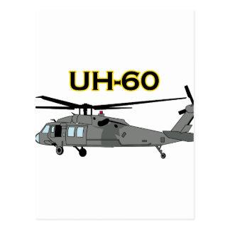 Uh Sixty Black Hawk Postcard